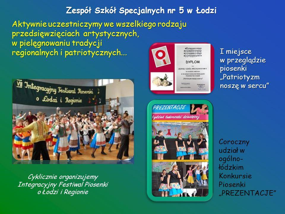 Zespół Szkół Specjalnych nr 5 w Łodzi Uczniowie naszej szkoły rywalizują w zawodach i olimpiadach sportowych odnosząc wiele sukcesów.