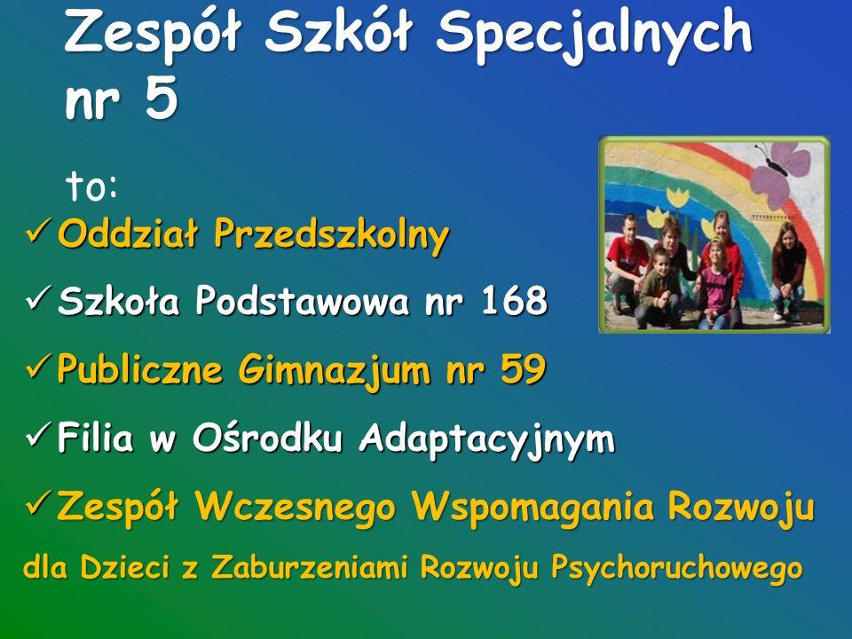 """"""" Powiedz dziecku, że jest dobre, że umie, że potrafi (Janusz Korczak) Zespół Szkół Specjalnych nr 5 tel./fax (42) 652-79-74 ul."""