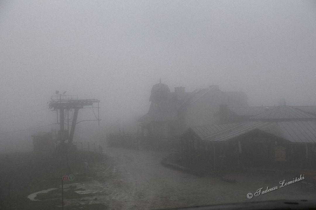 Krynica-Zdrój we mgle
