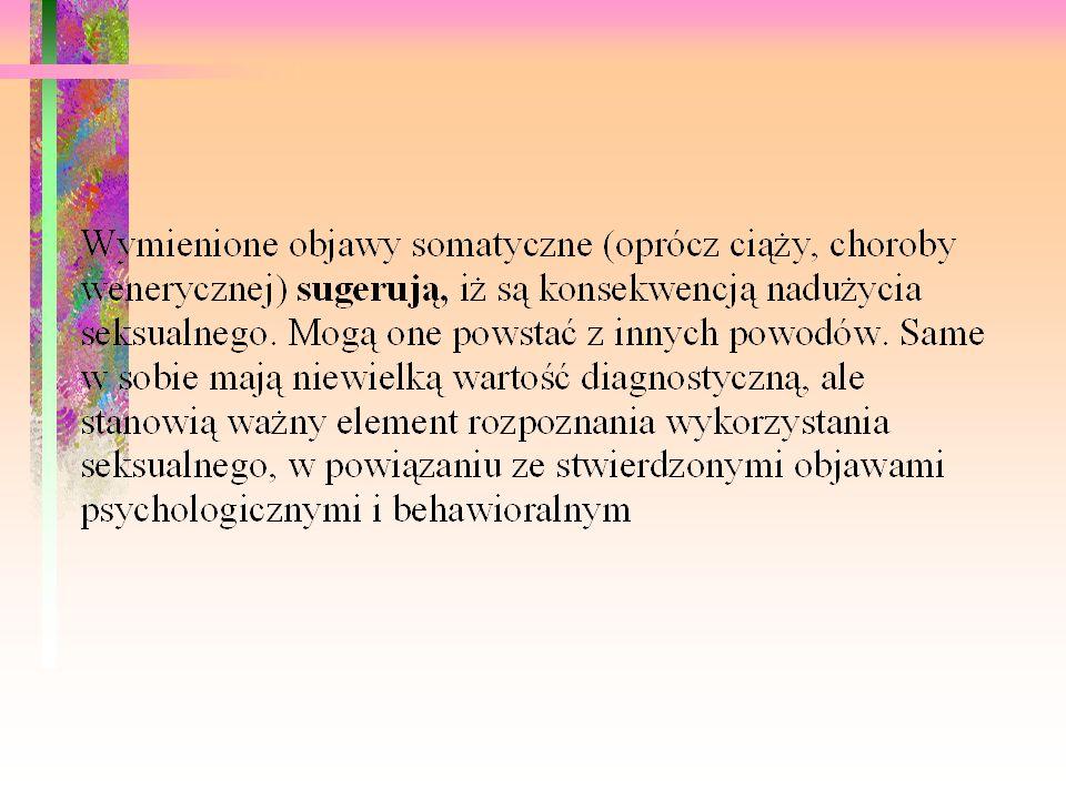 Objawy psychologiczne i behawioralne