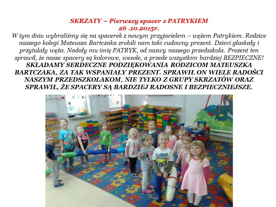 SKRZATY – Pierwszy spacer z PATRYKIEM 26.10.2015r.