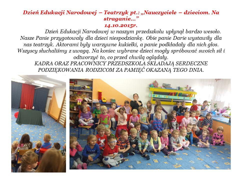 """Dzień Edukacji Narodowej – Teatrzyk pt.: """"Nauczyciele – dzieciom."""