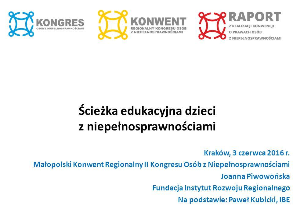 Ścieżka edukacyjna dzieci z niepełnosprawnościami Kraków, 3 czerwca 2016 r.