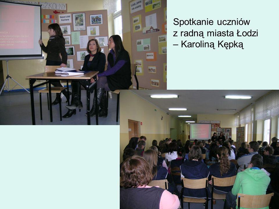 Spotkanie uczniów z radną miasta Łodzi – Karoliną Kępką