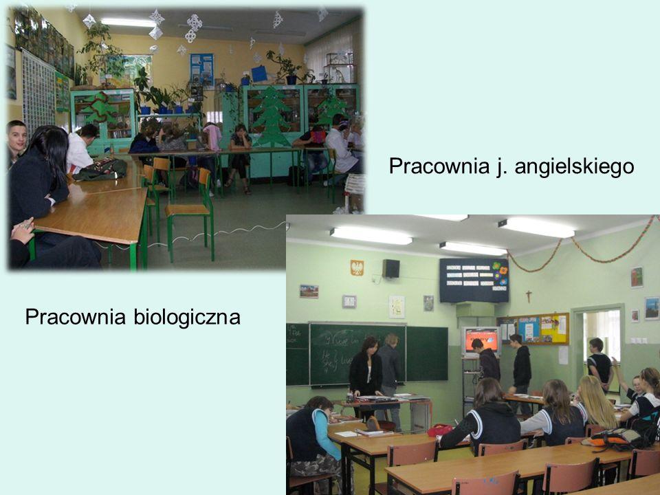 Pracownia biologiczna Pracownia j. angielskiego