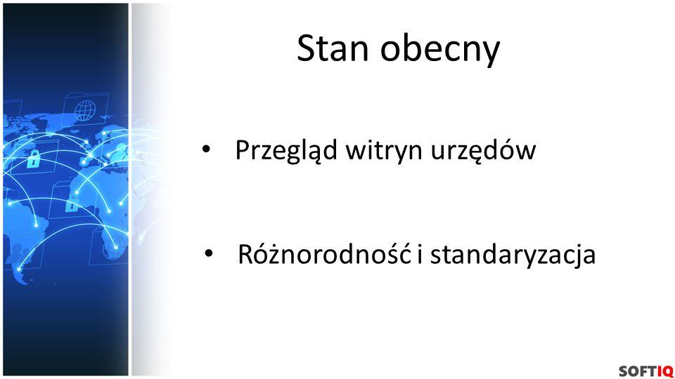 Stan obecny Przegląd witryn urzędów Różnorodność i standaryzacja