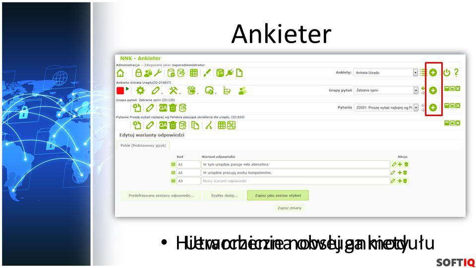 Ankieter Hierarchiczna obsługa modułu Utworzenie nowej ankiety