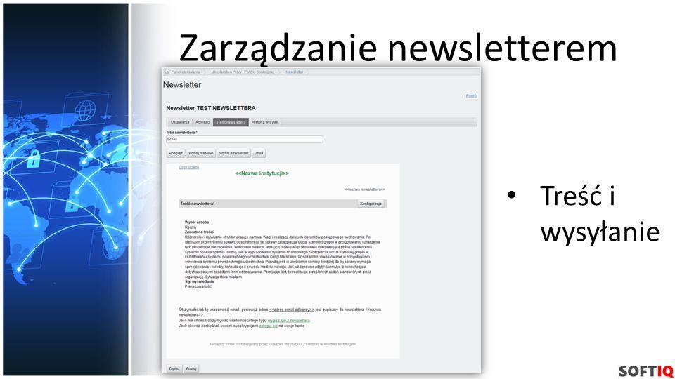 Zarządzanie newsletterem Treść i wysyłanie