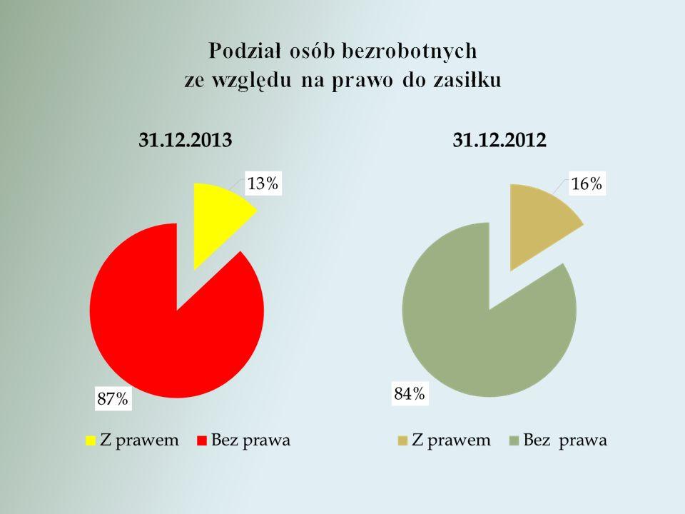 ANALIZA AKTYWNYCH FORM WSPARCIA OSÓB BEZROBOTNYCH W 2013 ROKU Ogółem udzielono wsparcia 1376 osobom