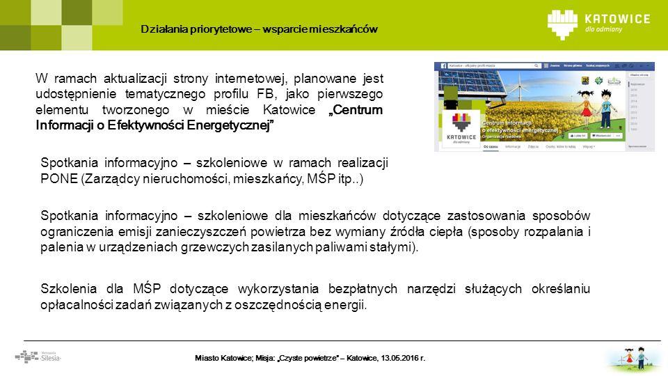 W ramach aktualizacji strony internetowej, planowane jest udostępnienie tematycznego profilu FB, jako pierwszego elementu tworzonego w mieście Katowic