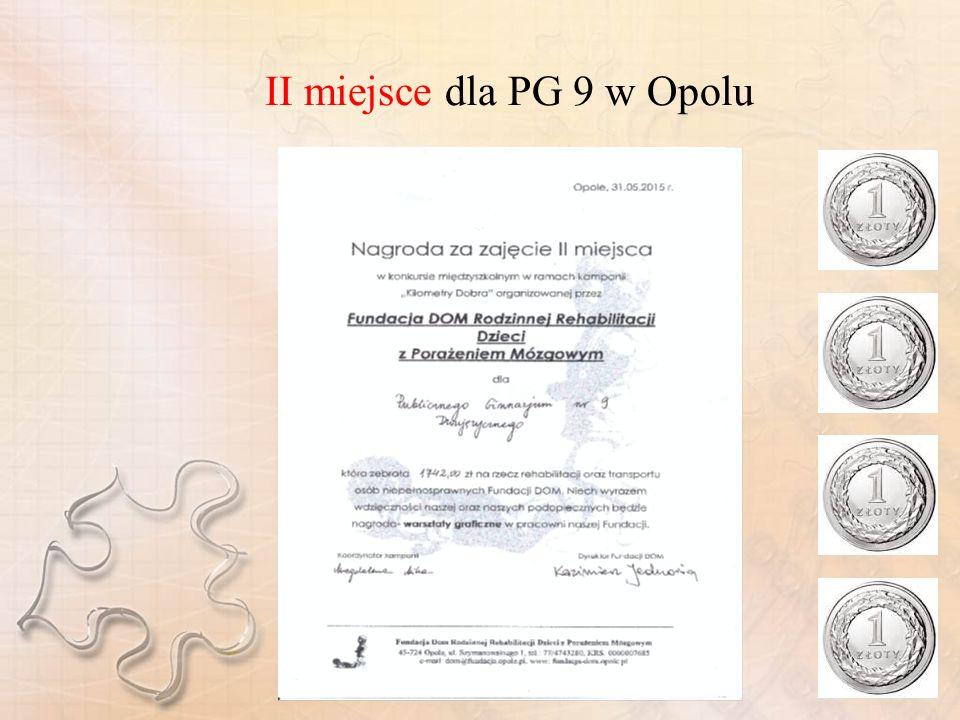 II miejsce dla PG 9 w Opolu