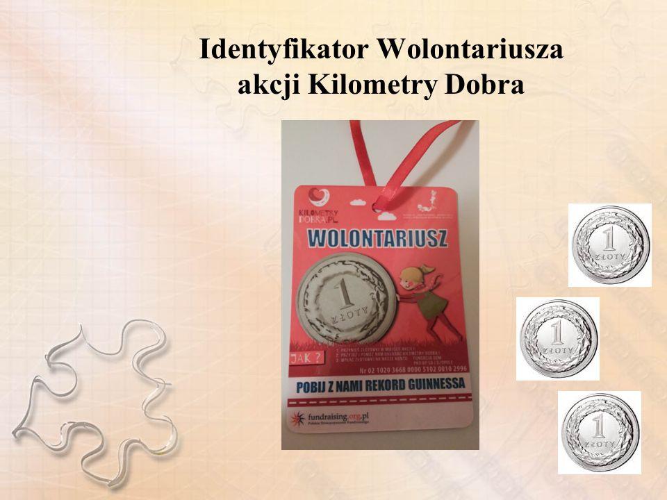 Identyfikator Wolontariusza akcji Kilometry Dobra