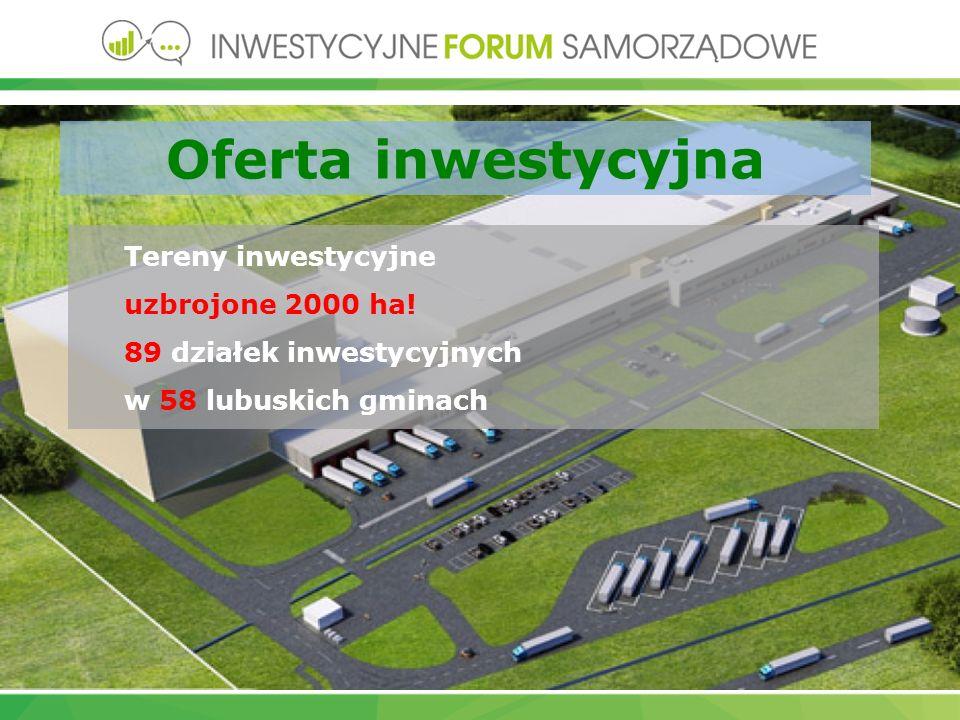 Oferta inwestycyjna Tereny inwestycyjne uzbrojone 2000 ha.