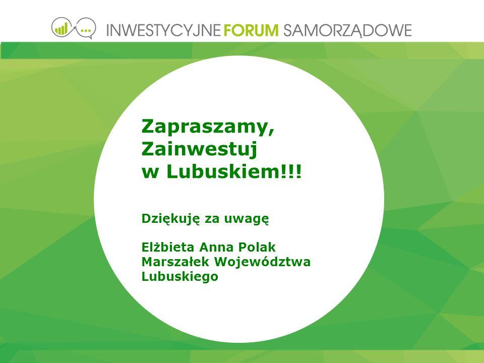 Zapraszamy, Zainwestuj w Lubuskiem!!.