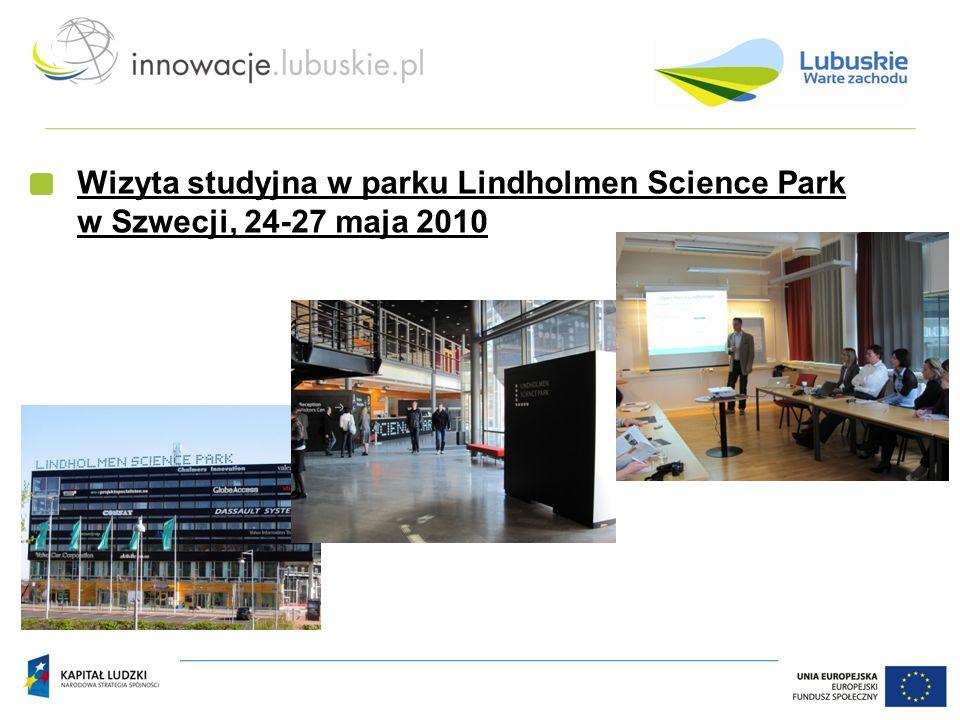 Wizyta studyjna w parku Lindholmen Science Park w Szwecji, 24-27 maja 2010