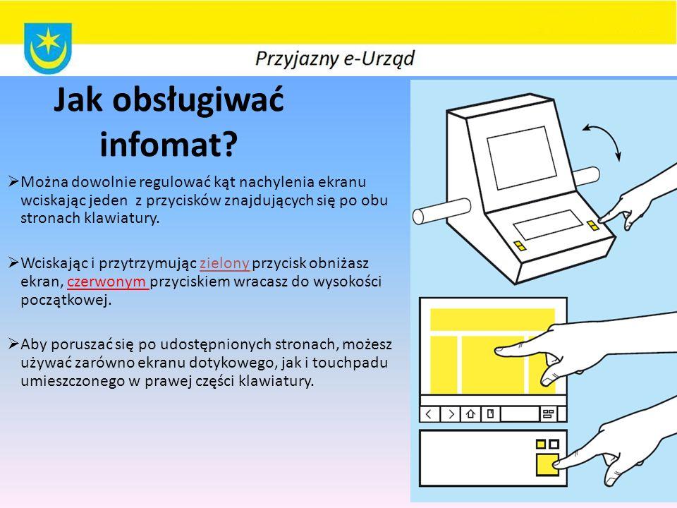 Jak obsługiwać infomat.