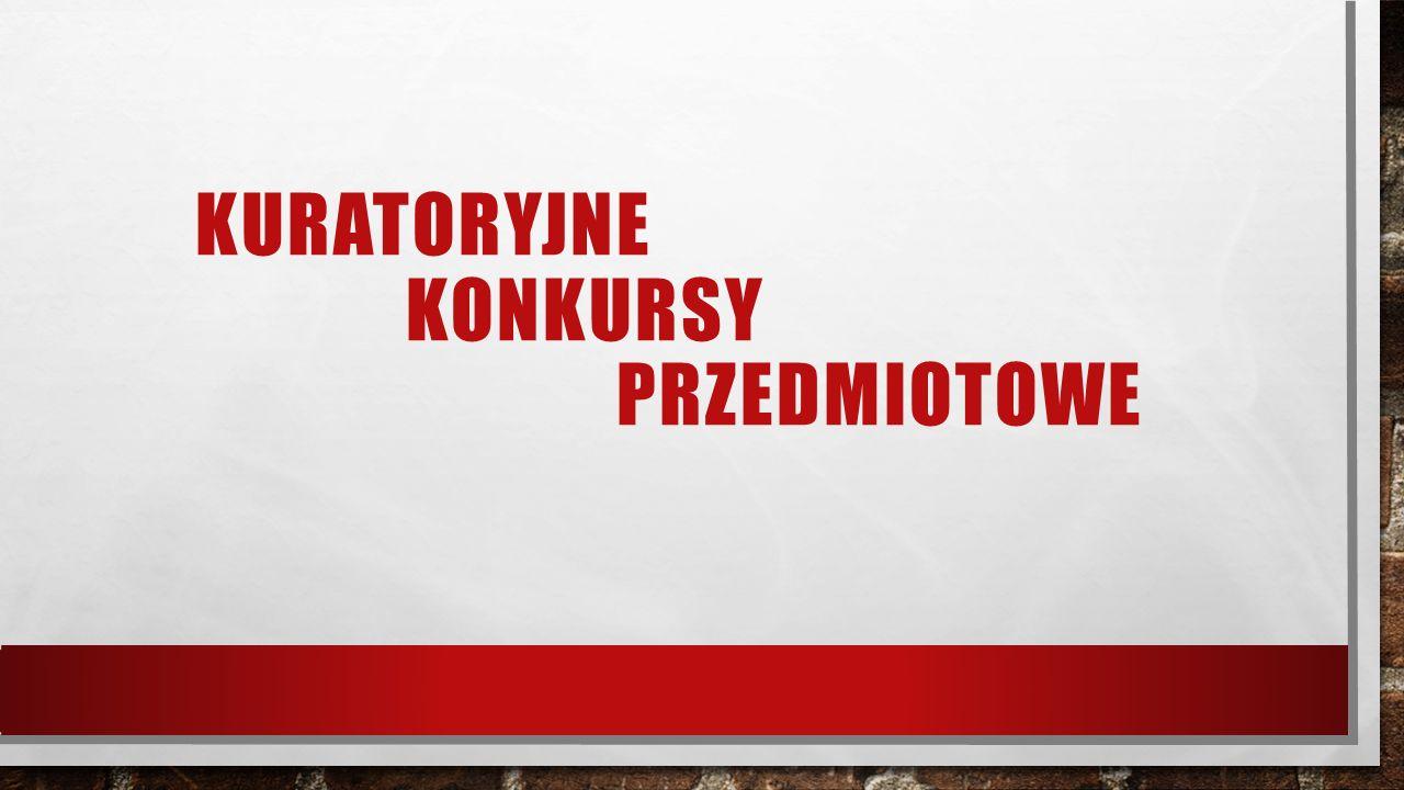 Laureaci konkursów kuratoryjnych Chemia: Mateusz Stączek – 3 h Janusz Ragus – 2h Biologia: Filip Jakubowicz – 2 h