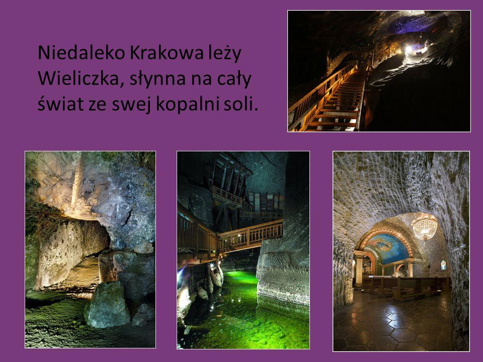 Niedaleko Krakowa leży Wieliczka, słynna na cały świat ze swej kopalni soli.