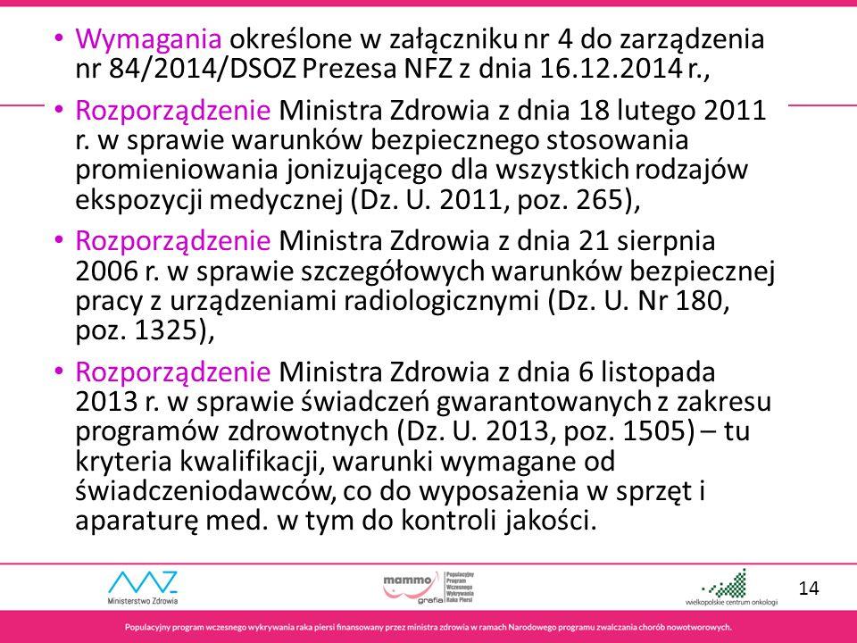 Wojewódzki Ośrodek Koordynujący Populacyjny Program Wczesnego Wykrywania Raka Piersi Wielkopolskie Centrum Onkologii, im.