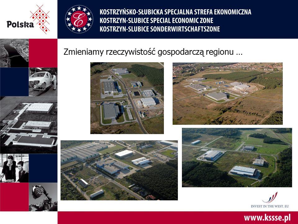 Zmieniamy rzeczywistość gospodarczą regionu …