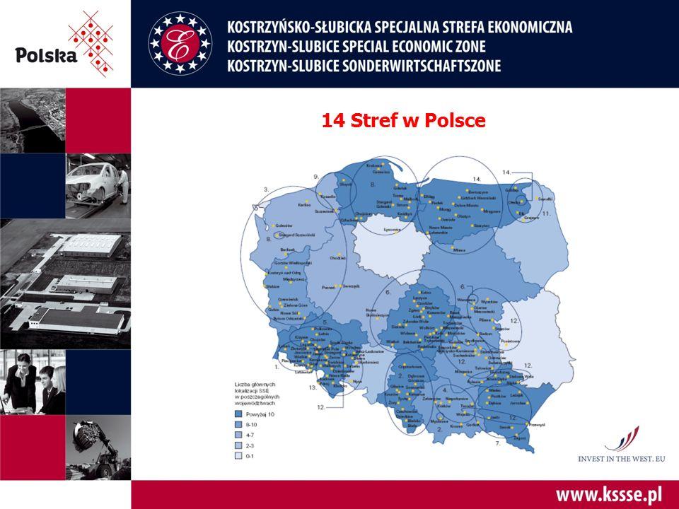 14 Stref w Polsce