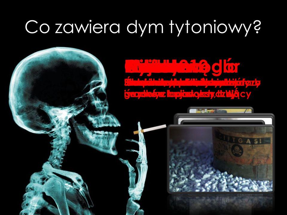 Co zawiera dym tytoniowy.