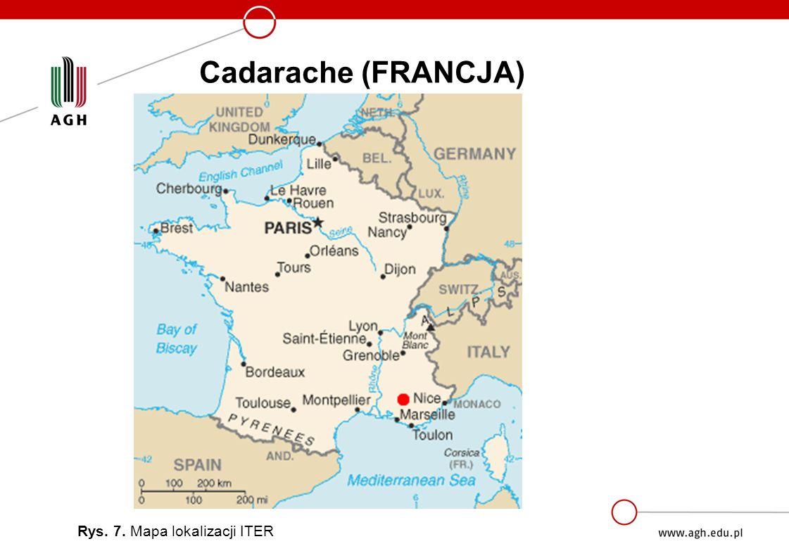 Cadarache (FRANCJA) Rys. 7. Mapa lokalizacji ITER