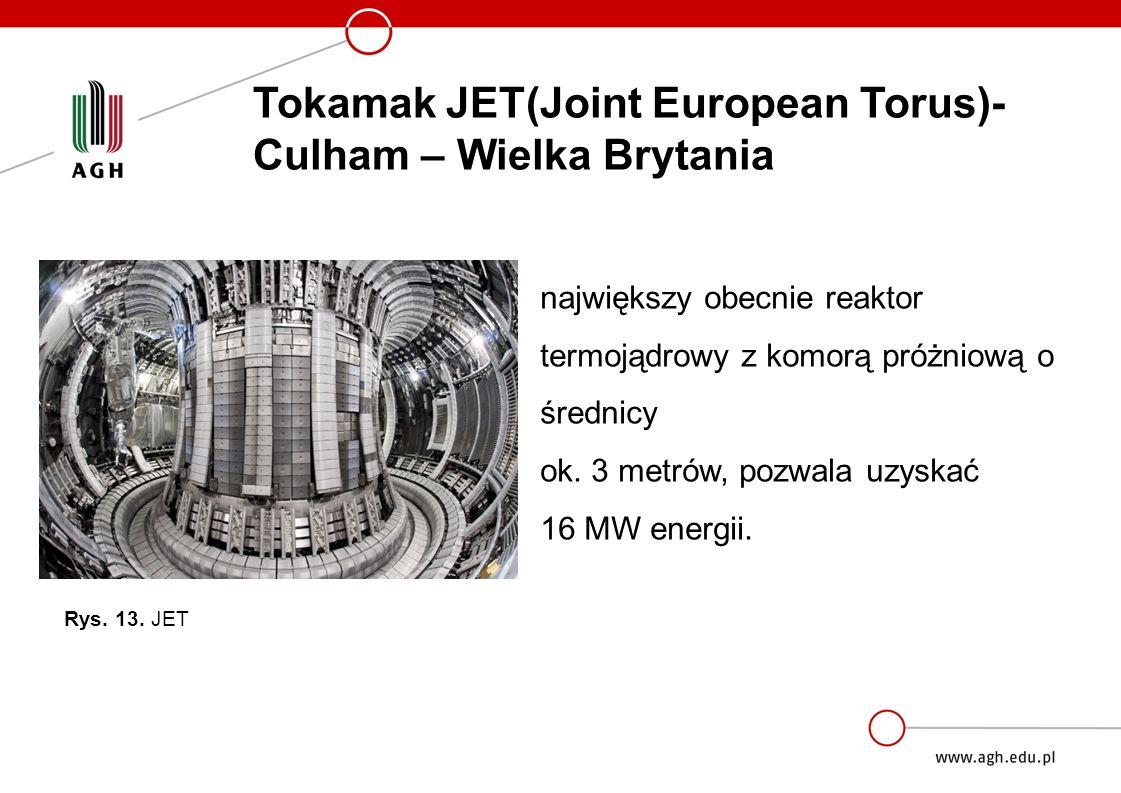 największy obecnie reaktor termojądrowy z komorą próżniową o średnicy ok.