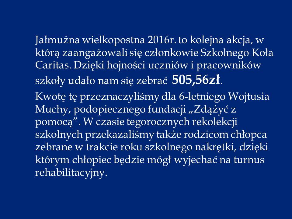 Jałmużna wielkopostna 2016r.