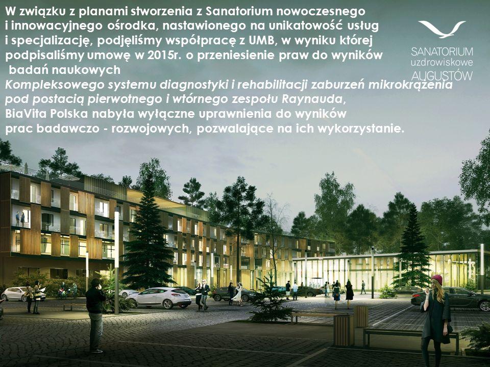 W związku z planami stworzenia z Sanatorium nowoczesnego i innowacyjnego ośrodka, nastawionego na unikatowość usług i specjalizację, podjęliśmy współpracę z UMB, w wyniku której podpisaliśmy umowę w 2015r.