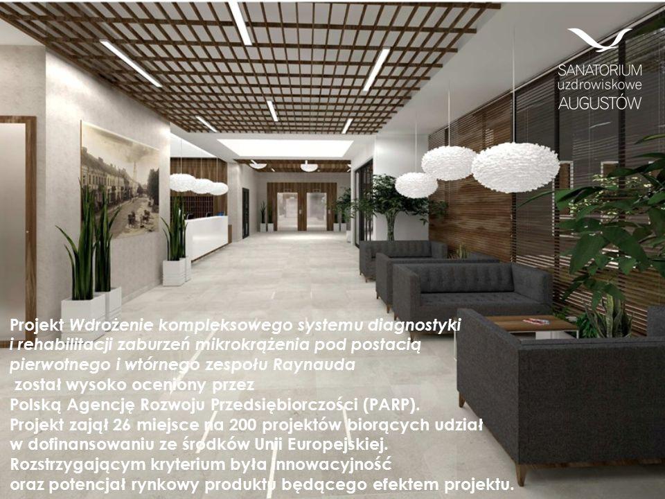 Projekt Wdrożenie kompleksowego systemu diagnostyki i rehabilitacji zaburzeń mikrokrążenia pod postacią pierwotnego i wtórnego zespołu Raynauda został wysoko oceniony przez Polską Agencję Rozwoju Przedsiębiorczości (PARP).