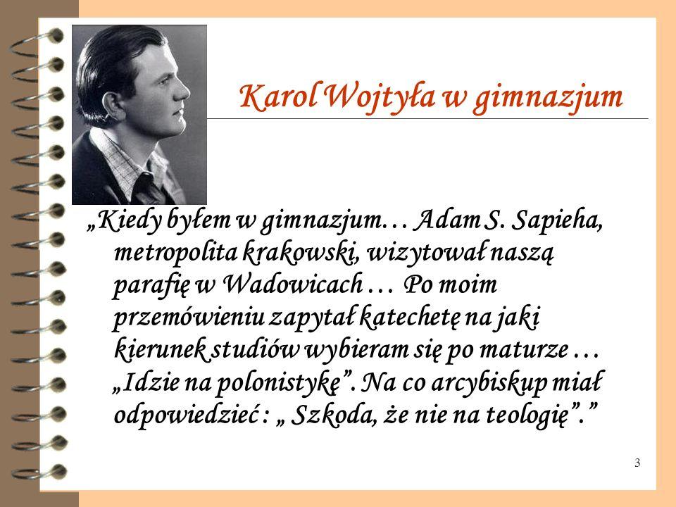 """2 Karol Wojtyła """" 18 maja 1920 roku, o dziewiątej rano, nie było mnie jeszcze na świecie. Jak mi później powiedziano, urodziłem się po południu między"""