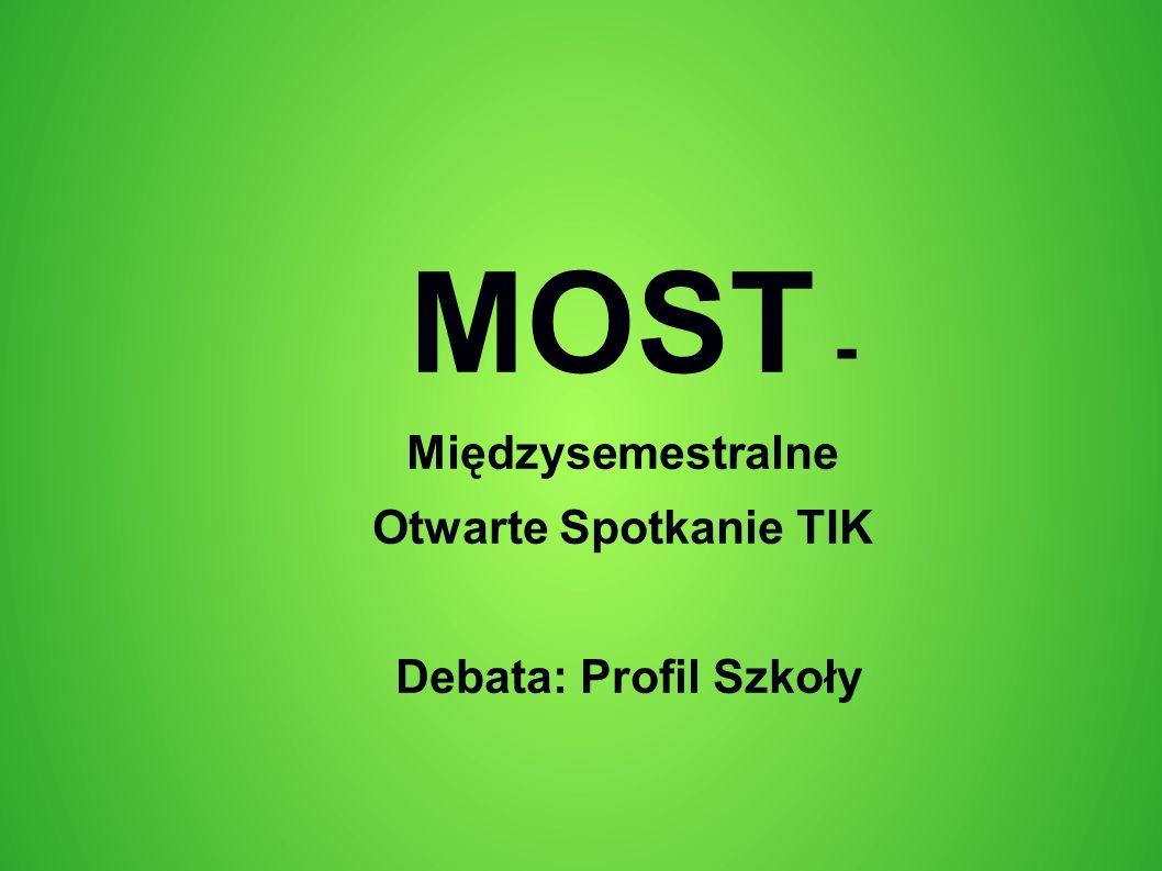 MOST - Międzysemestralne Otwarte Spotkanie TIK Debata: Profil Szkoły
