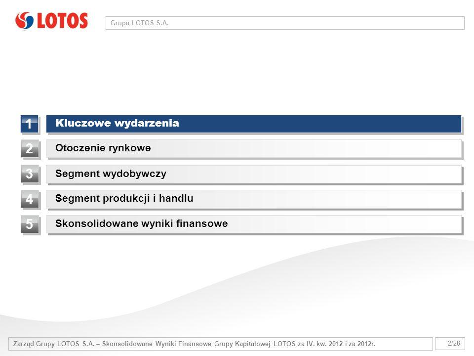 Zarząd Grupy LOTOS S.A.– Skonsolidowane Wyniki Finansowe Grupy Kapitałowej LOTOS za IV.