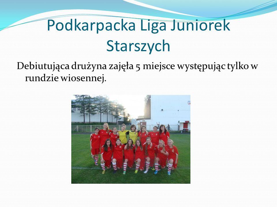 Podkarpacka Liga Juniorek Starszych Debiutująca drużyna zajęła 5 miejsce występując tylko w rundzie wiosennej.