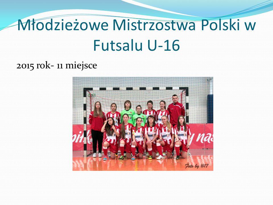 Młodzieżowe Mistrzostwa Polski w Futsalu U-16 2015 rok- 11 miejsce