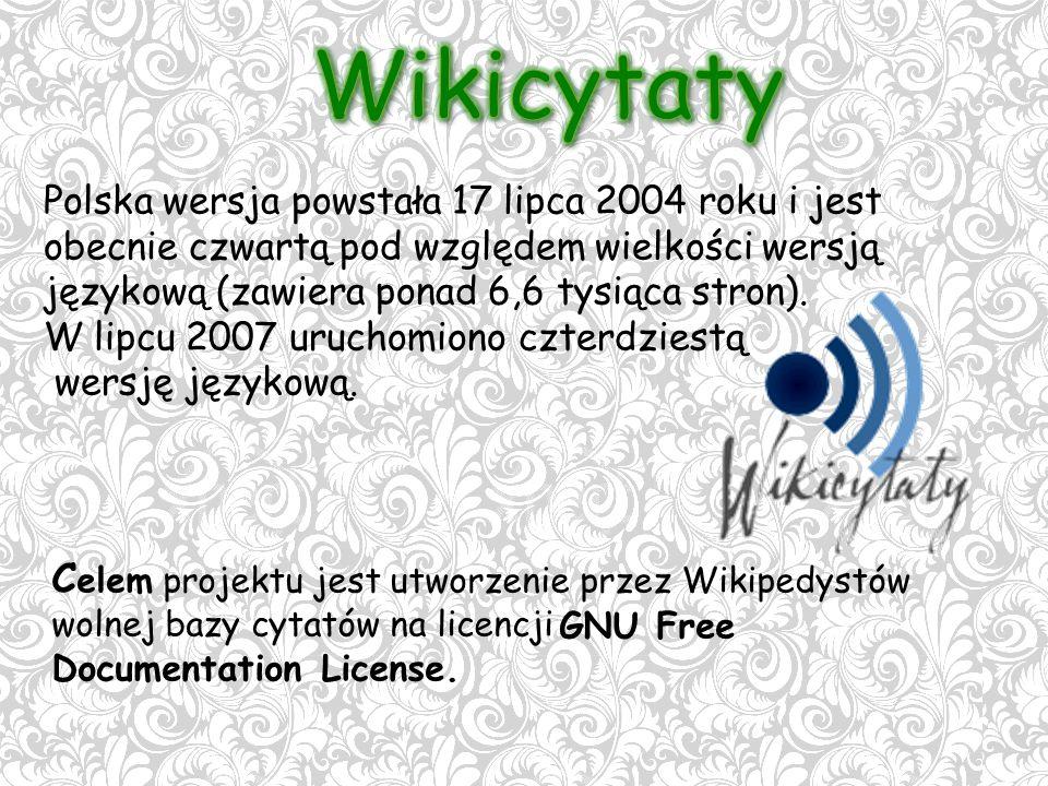 Polska wersja powstała 17 lipca 2004 roku i jest obecnie czwartą pod względem wielkości wersją językową (zawiera ponad 6,6 tysiąca stron).