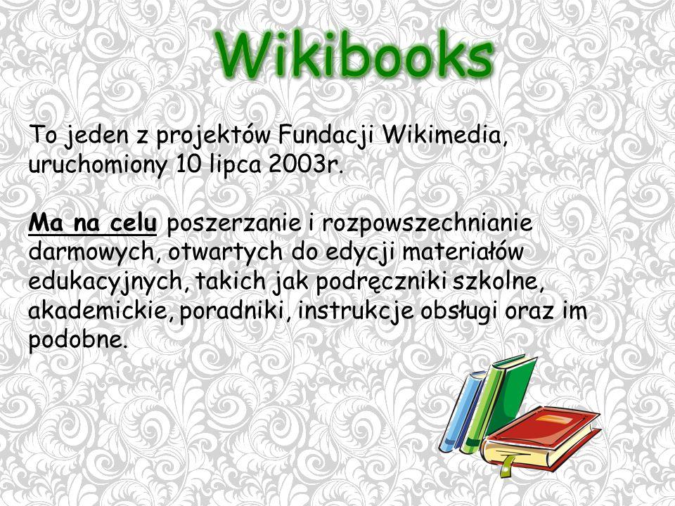 To jeden z projektów Fundacji Wikimedia, uruchomiony 10 lipca 2003r.