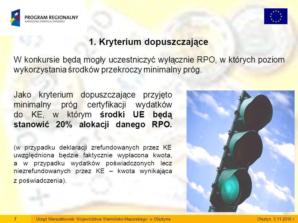 7Urząd Marszałkowski Województwa Warmińsko-Mazurskiego w Olsztynie Olsztyn, 3.11.2010 r.