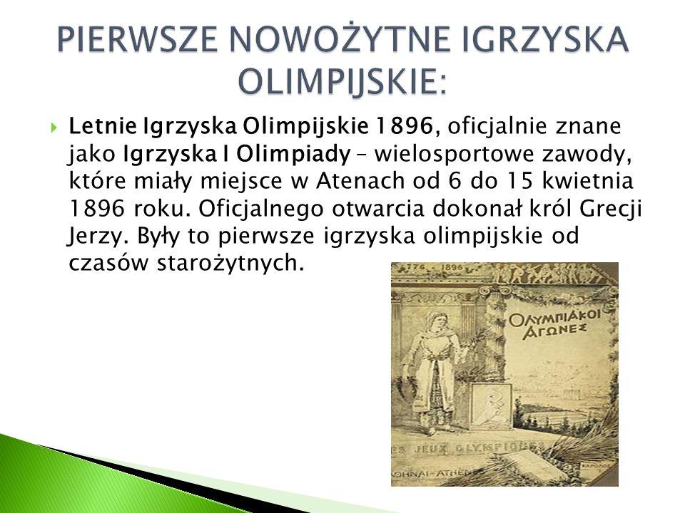  Letnie Igrzyska Olimpijskie 1896, oficjalnie znane jako Igrzyska I Olimpiady – wielosportowe zawody, które miały miejsce w Atenach od 6 do 15 kwietn