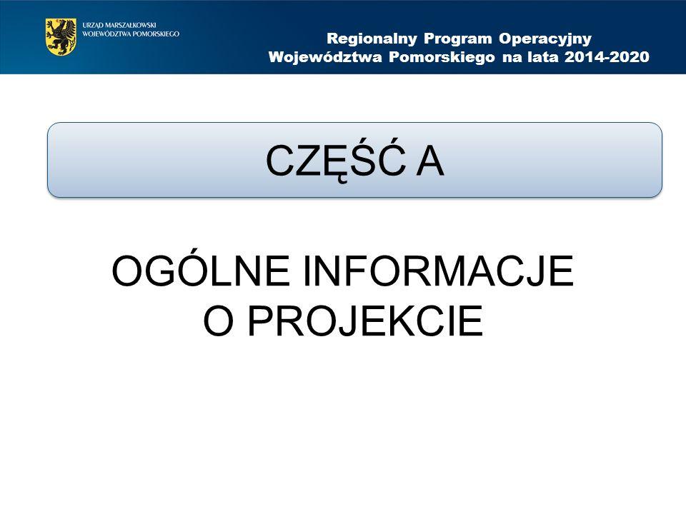 Regionalny Program Operacyjny Województwa Pomorskiego na lata 2014-2020 Problem musi merytorycznie wynikać i odwoływać się do informacji zawartych w poszczególnych wierszach kolumny Charakterystyka grupy docelowej (w oparciu o kategorie specyficznych cech)..