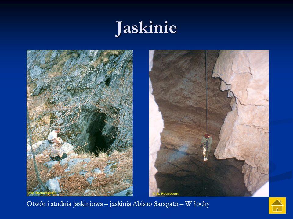 Jaskinie Otwór i studnia jaskiniowa – jaskinia Abisso Saragato – W łochy