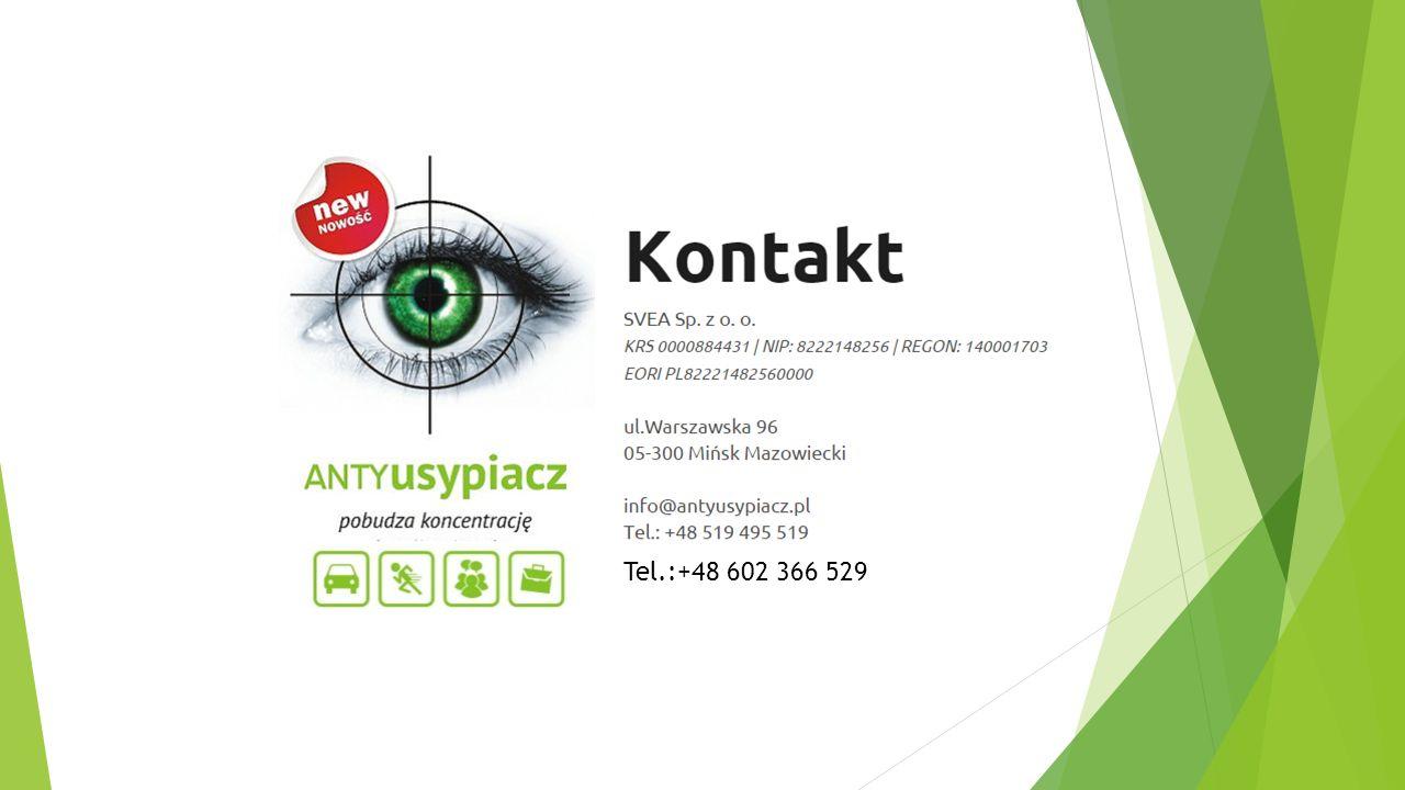 Tel.:+48 602 366 529