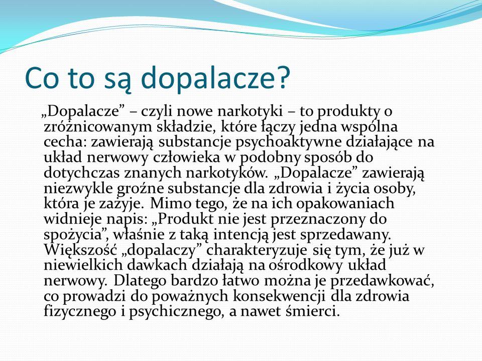 - Telefon zaufania dla młodzieży, mającej problem z narkotykami 801 199 990 http://dopalaczeinfo.pl/strony/poradnia_online - tutaj można uzyskać poradę przez Internet, Ekspertami udzielającymi porad są: http://dopalaczeinfo.pl/strony/poradnia_online Tomasz Kowalewicz (psycholog) Maria Moneta-Malewska (lekarz) Krzysztof Grabowski (prawnik)