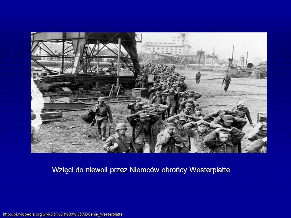 Wzięci do niewoli przez Niemców obrońcy Westerplatte http://pl.wikipedia.org/wiki/Obl%C4%99%C5%BCenie_Westerplatte