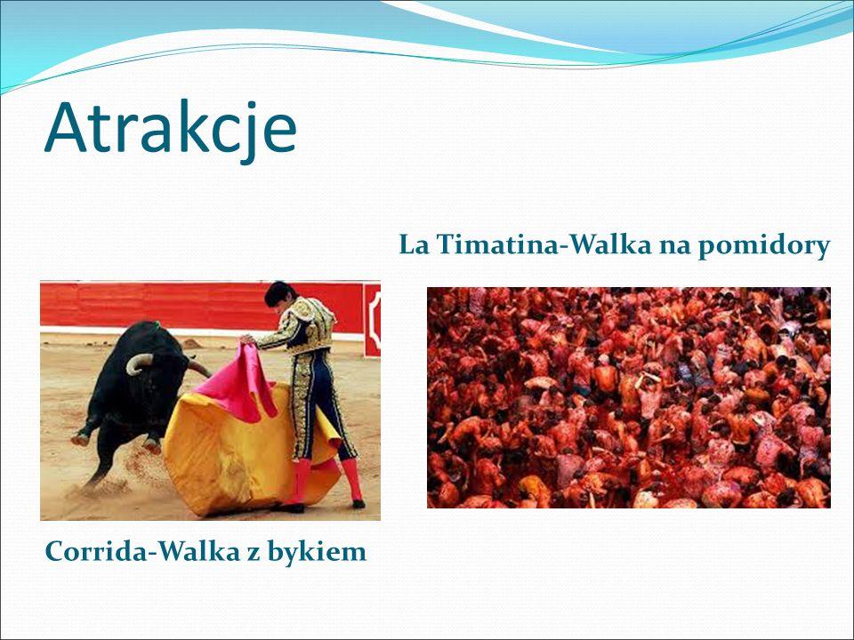 Atrakcje Corrida-Walka z bykiem La Timatina-Walka na pomidory