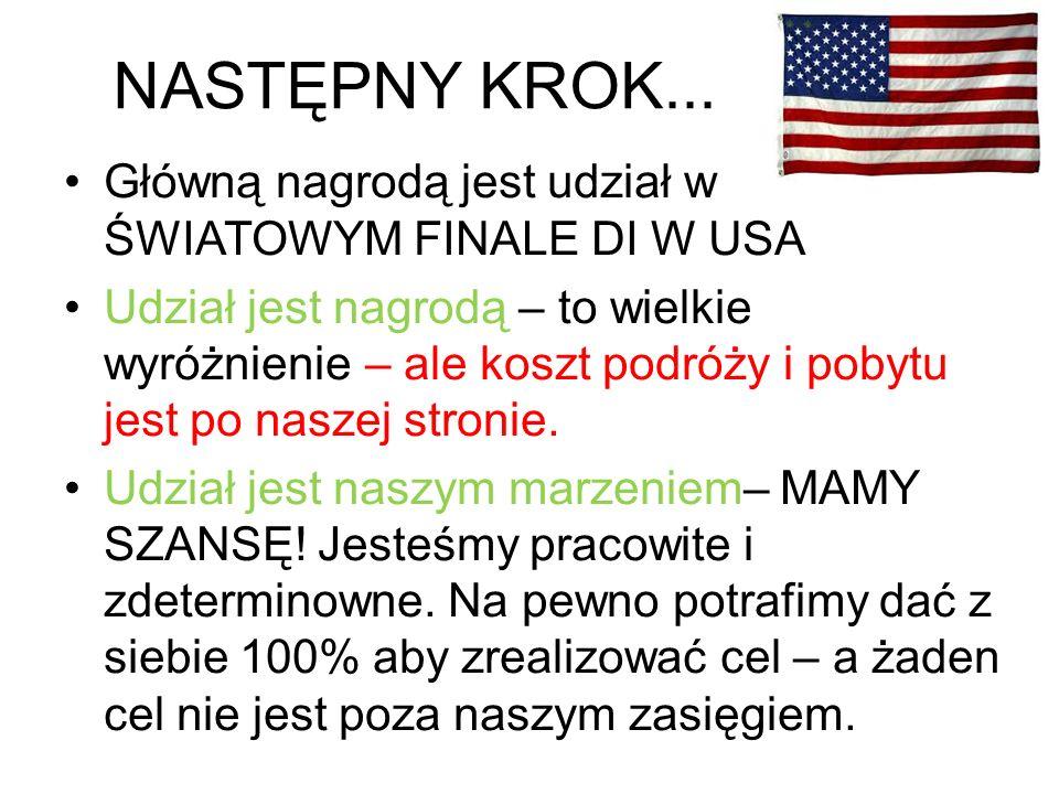 KOSZTY… POTRZEBA NAM : ok.100 000 złotych na co: przelot do USA, transport, pobyt, ubezpieczenie, zakwaterowanie.