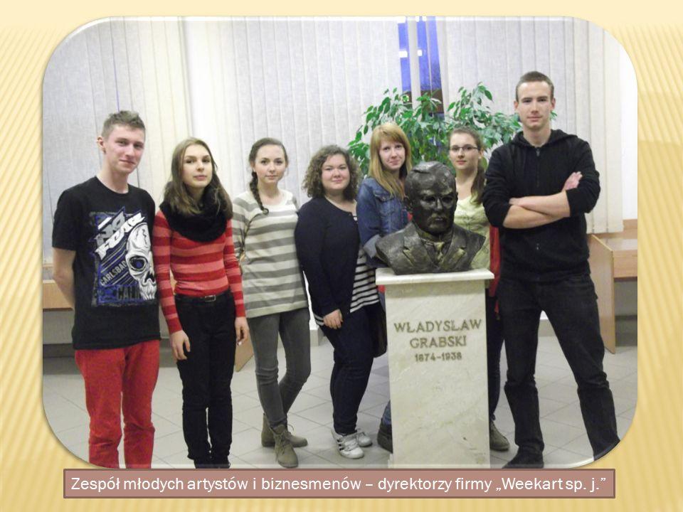 """Zespół młodych artystów i biznesmenów – dyrektorzy firmy """"Weekart sp. j."""