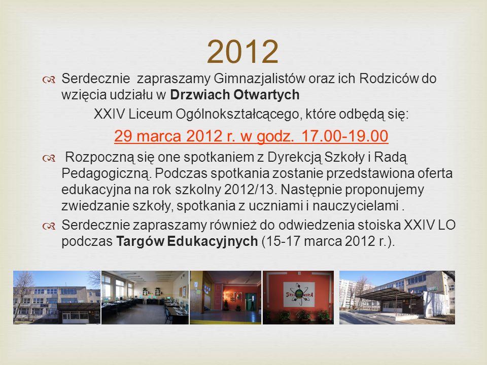 W roku szkolnym 2012/13 szkoła dokonuje naboru uczniów do pięciu klas pierwszych o kierunkach kształcenia: Przedmioty rozszerzane w cyklu nauczania Przedmioty uwzględniane w rekrutacji J.