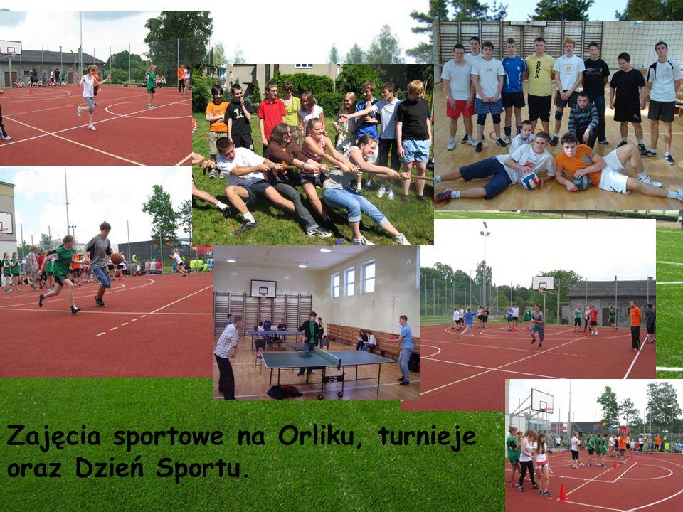 Zajęcia sportowe na Orliku, turnieje oraz Dzień Sportu.